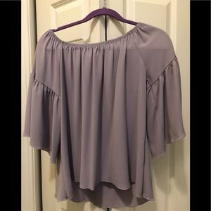 Off the shoulder lilac top. Worn once.